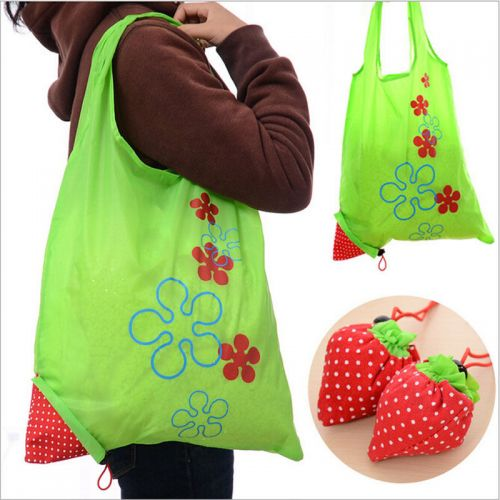Strawberry Nylon Shopping Bags - Eco - Reusable